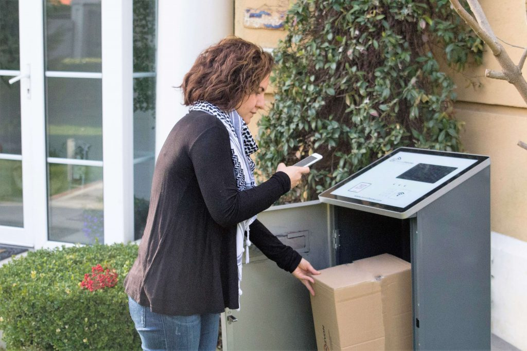 A Neighbour Delivers a Parcel in her ParcelHome
