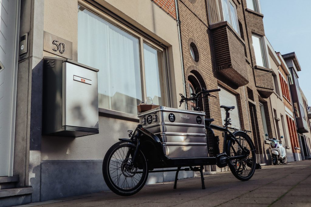 Surplace's bike and a ParcelHome in Belgium's Waasland