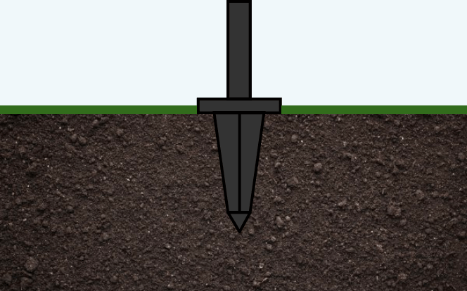the foot can be installed on all types of soil